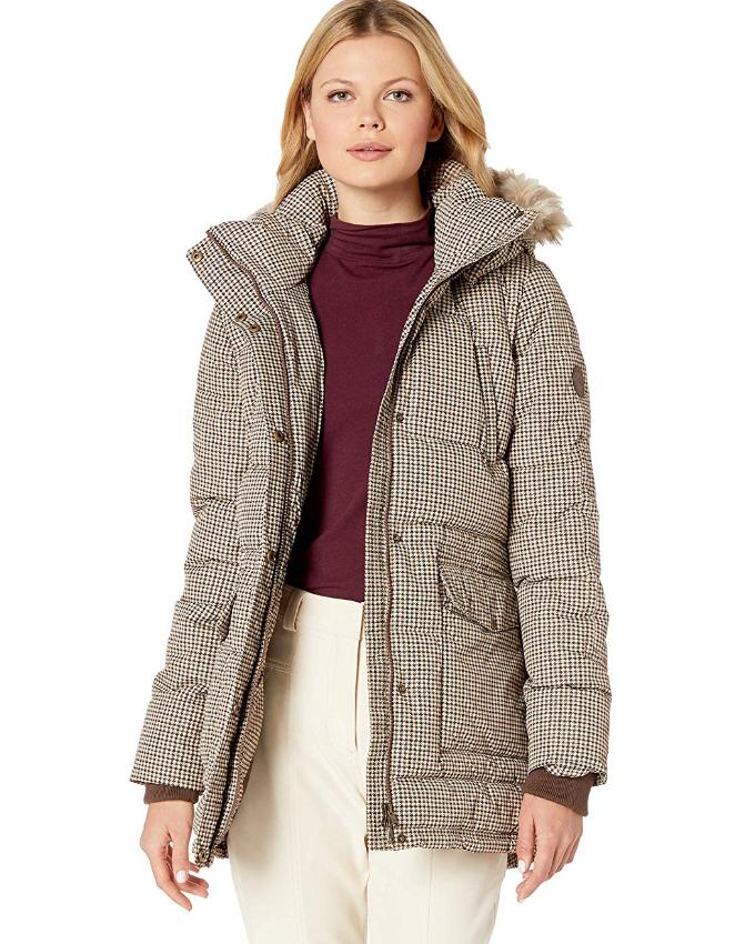 Screenshot_2019-11-19 LAUREN RALPH LAUREN Women's Printed Anorak Houndstooth X-Small at Amazon Women's Coats Shop