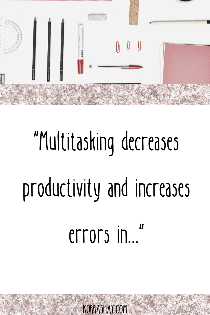 multitasking decreases productivity