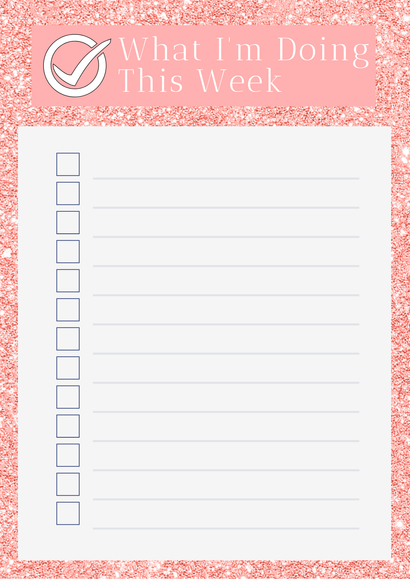 free weekly to-do list printable