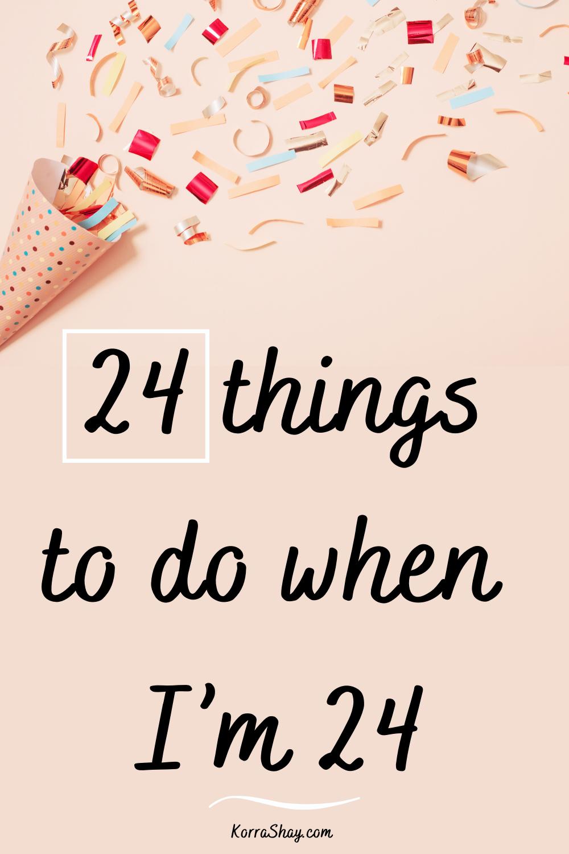 Twenties bucket list