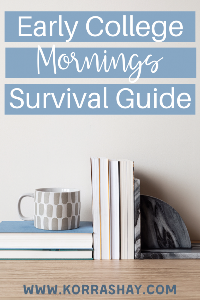 early college mornings survival guide! Tips for how to survive 8am classes.
