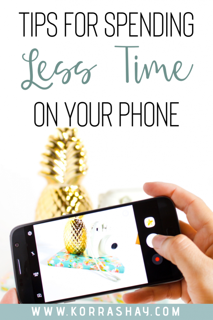 Tips for spending less time on your phone!