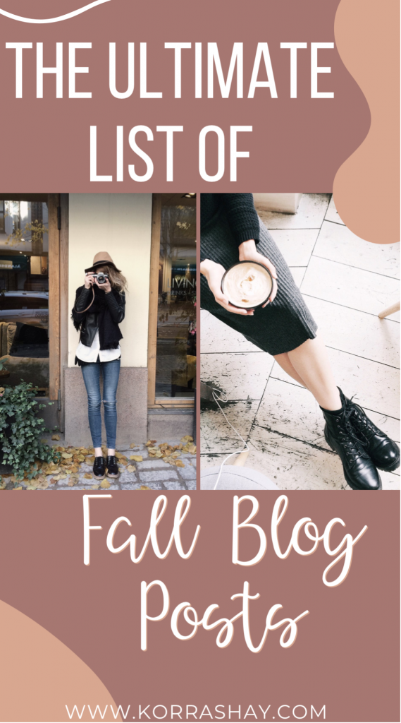 The ultimate list of fall blog post ideas!