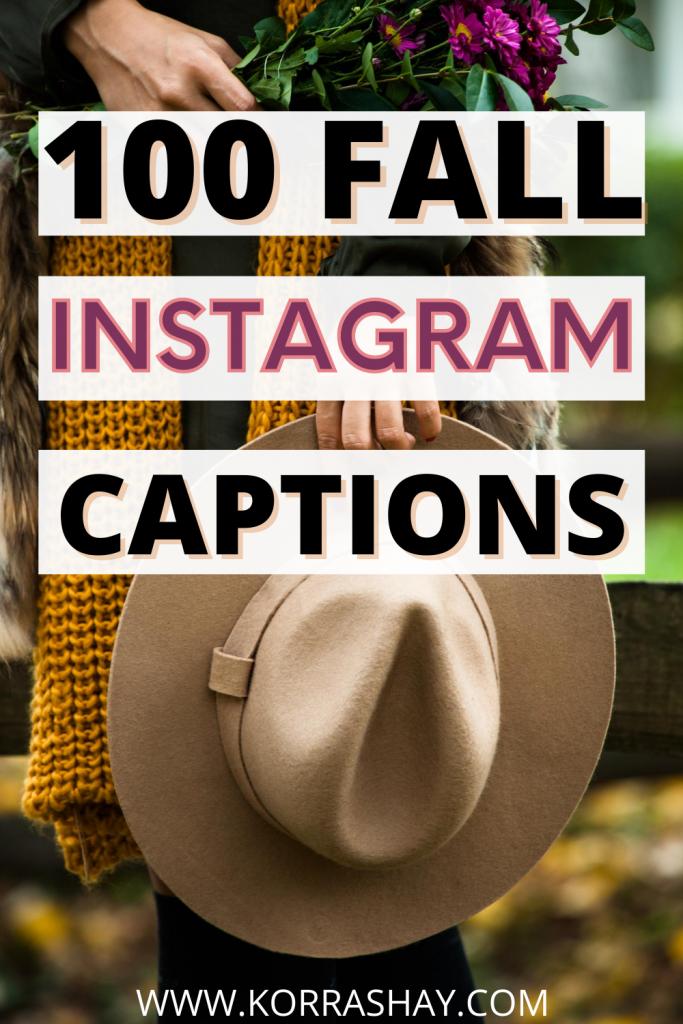 100 Fall Instagram Captions!