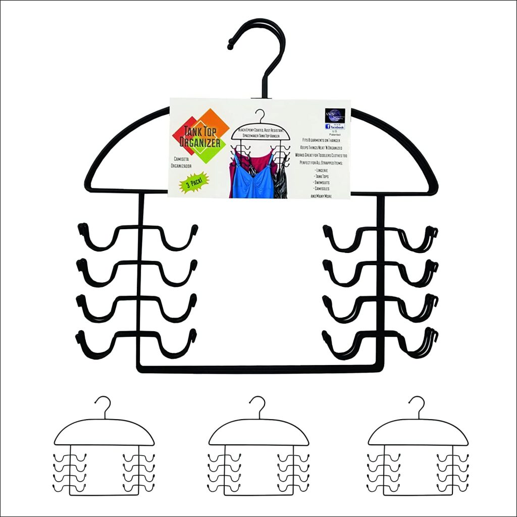 tank top hanger for organized closets