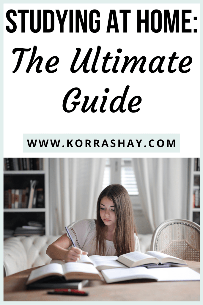 Studying at home: the ultimate guide!