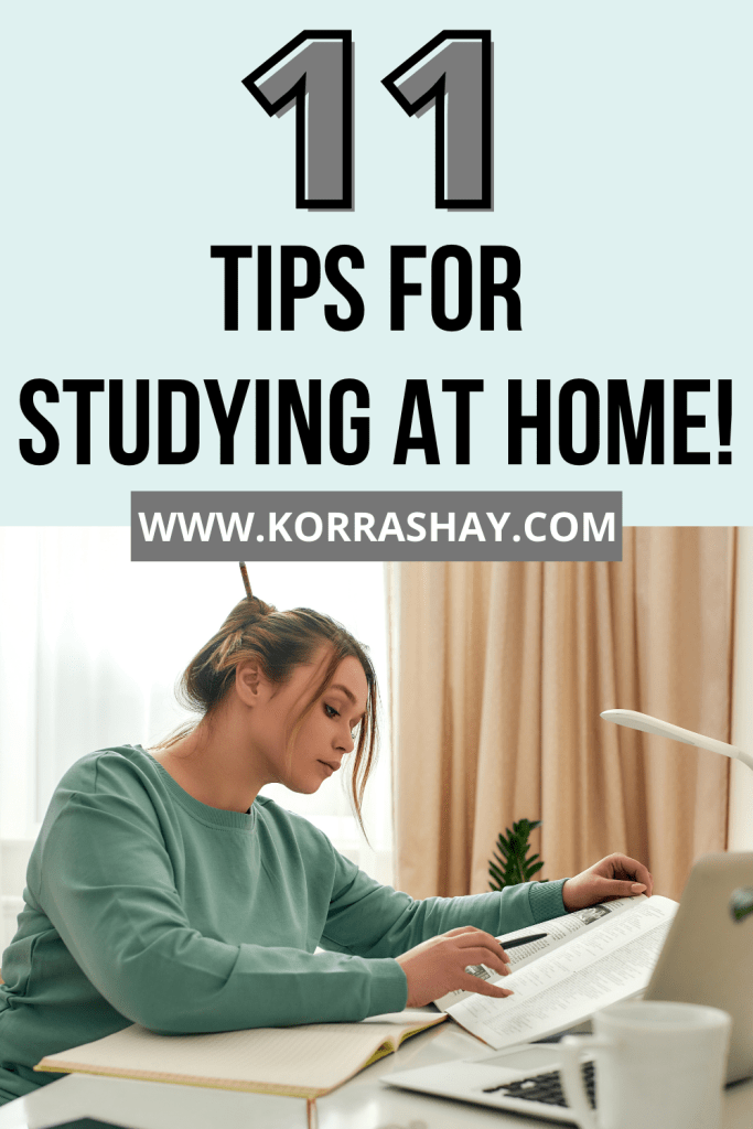 11 tips for studying at home!
