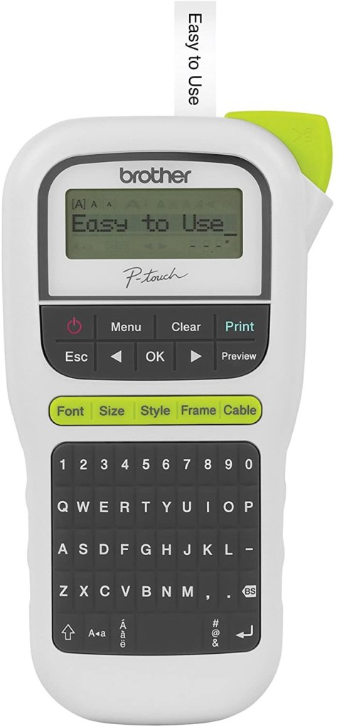 Gift for organized people: label maker