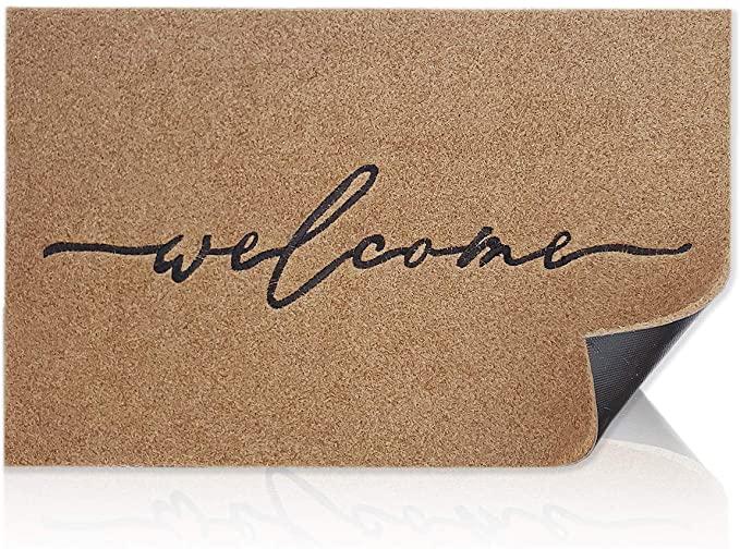 housewarming present: welcome mat