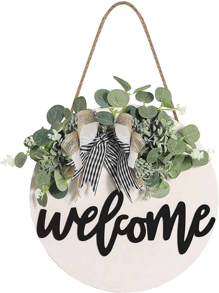housewarming presents, gift ideas for new home owners: welcome sign!