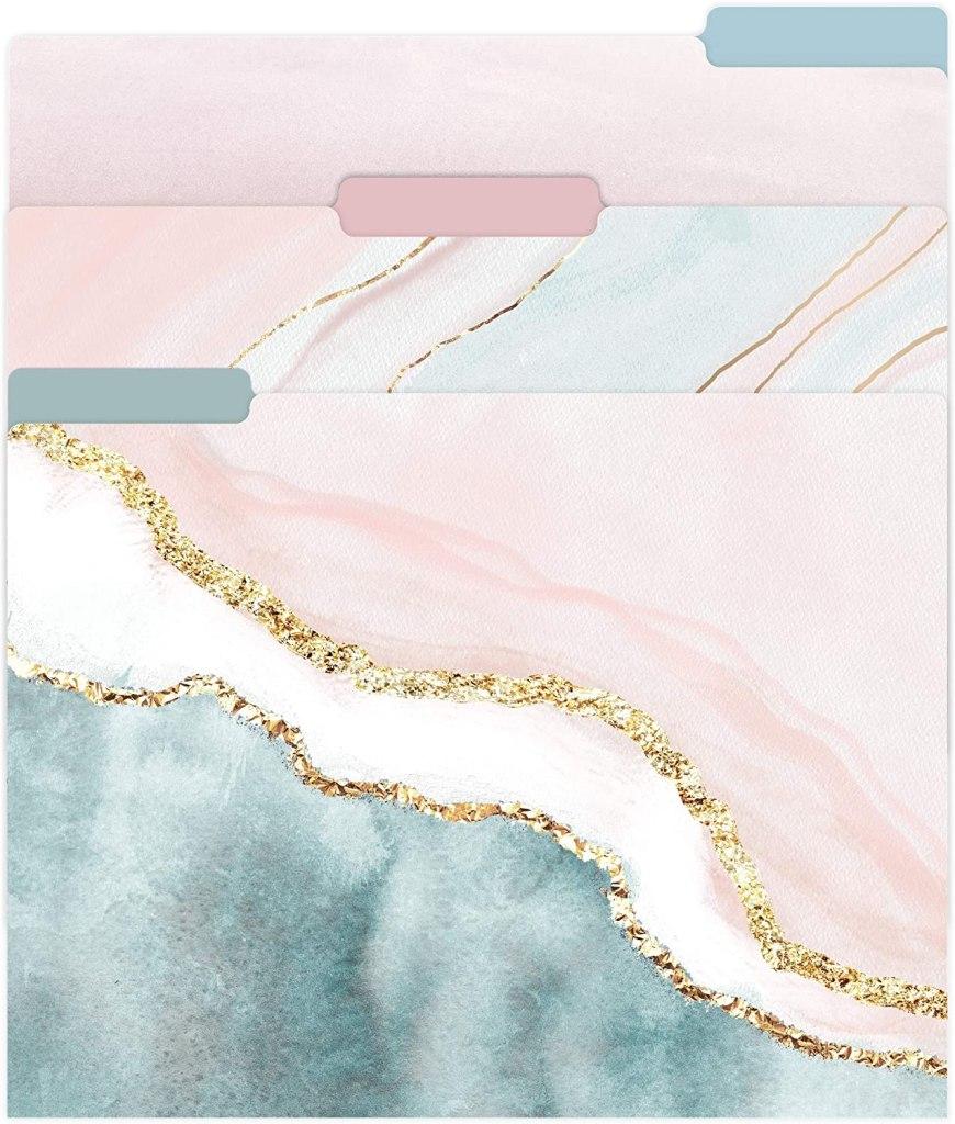Gift for organized people: stylish file folders