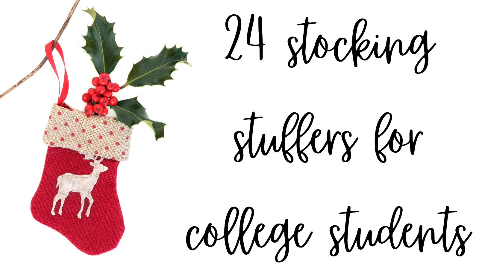 24 Stocking Stuffers For College Students!