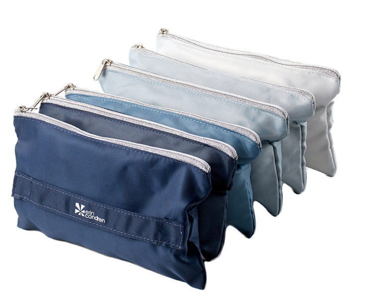 Gift for organized people: ombre accordion zipper pouch
