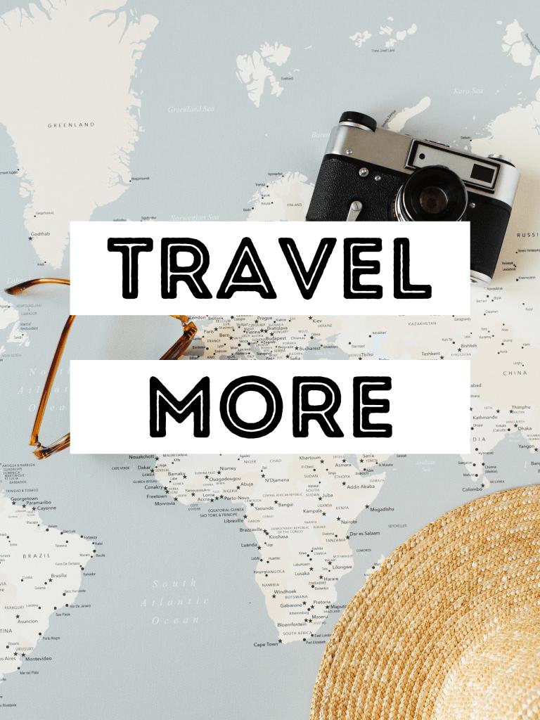 Travel more 2021 vision board