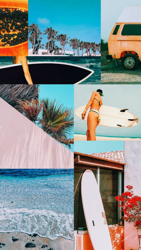 22 Summer Aesthetic Phone Wallpapers For 2021 colorful collage