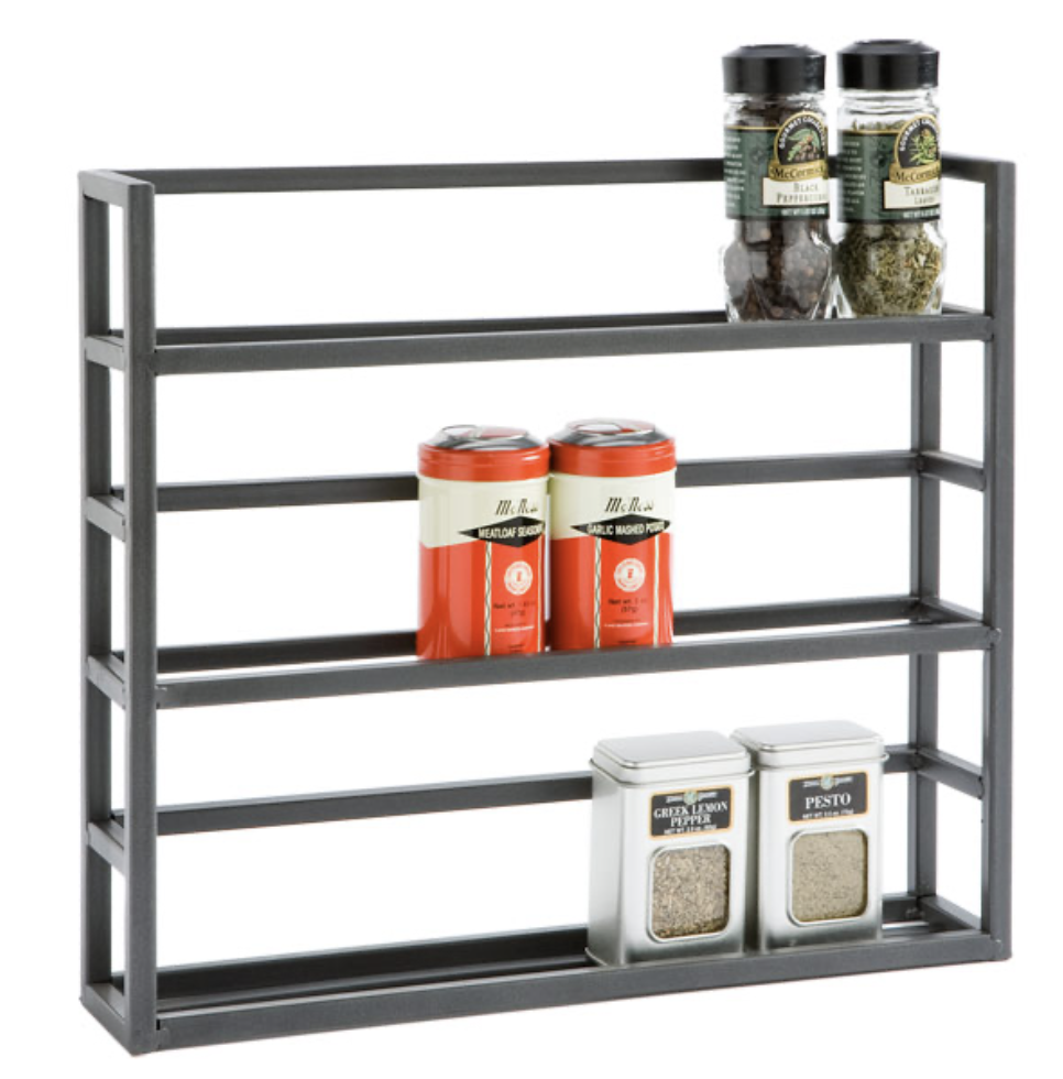 spice rack for an organized pantry