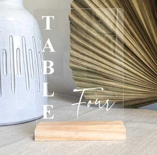 Modern Wedding Table Number Ideas For Modern Weddings!